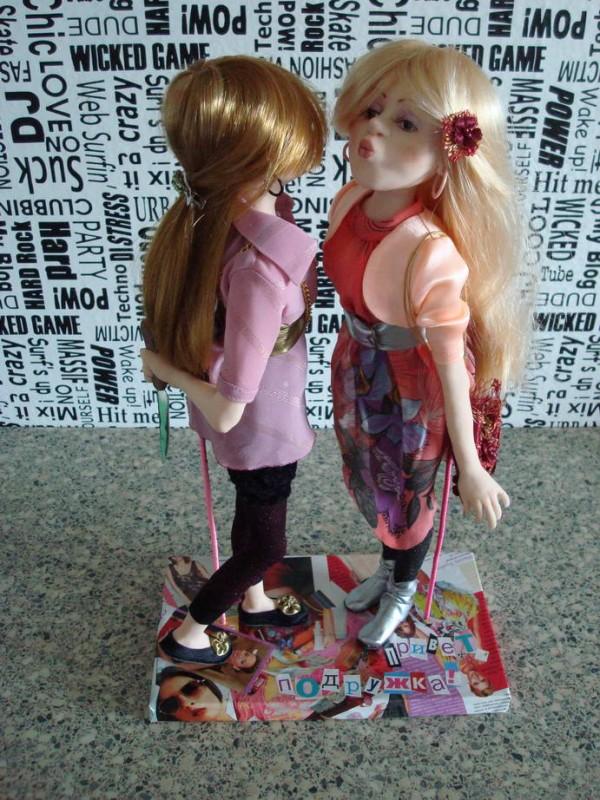Авторская кукла Чмоки-чмоки(или Привет, подружка!