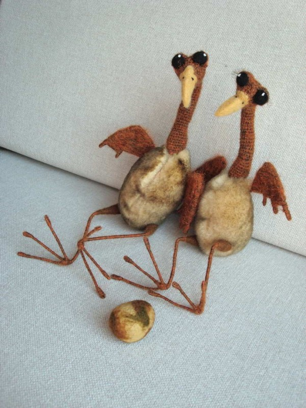 Авторская игрушка Птицыно семейство. В ожидании чуда