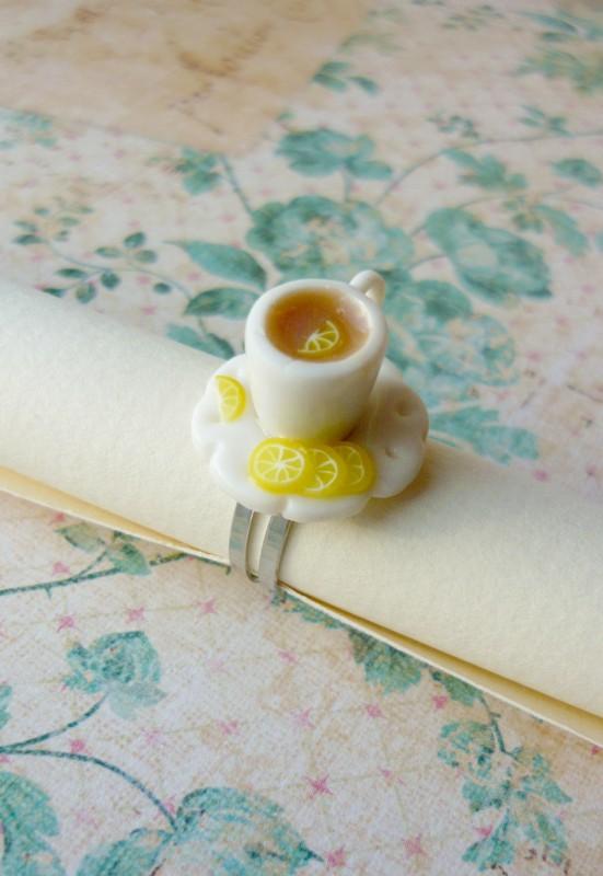 Кольцо Чай с лимоном