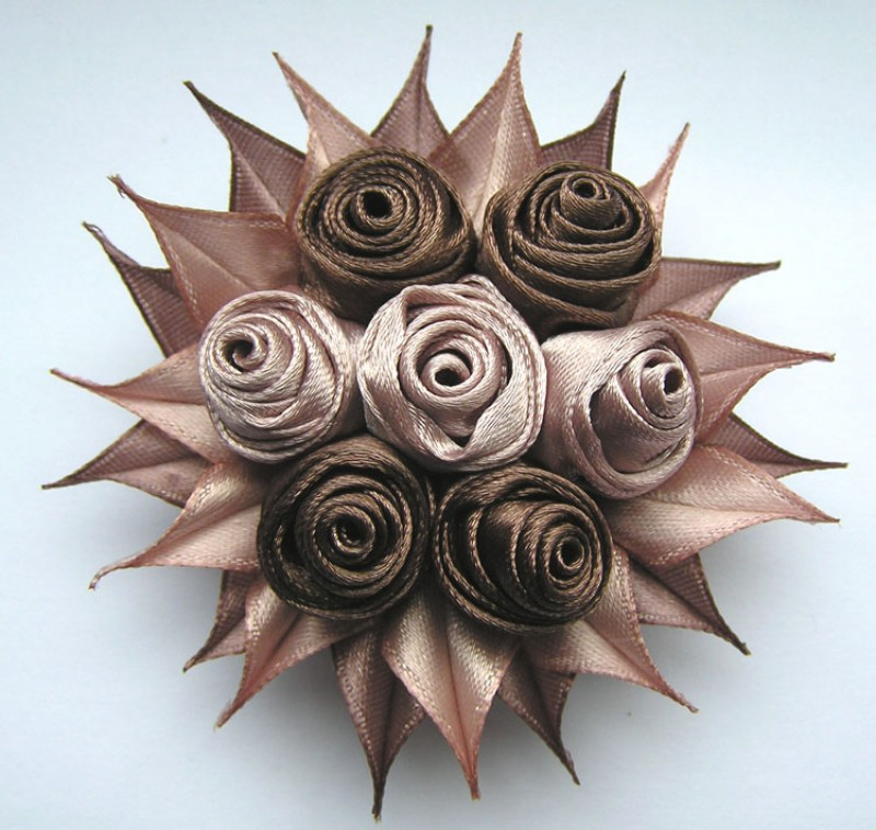 Брошь Шоколадный десерт