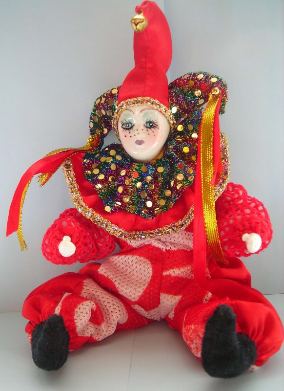 Арлекин. Каркасная кукла