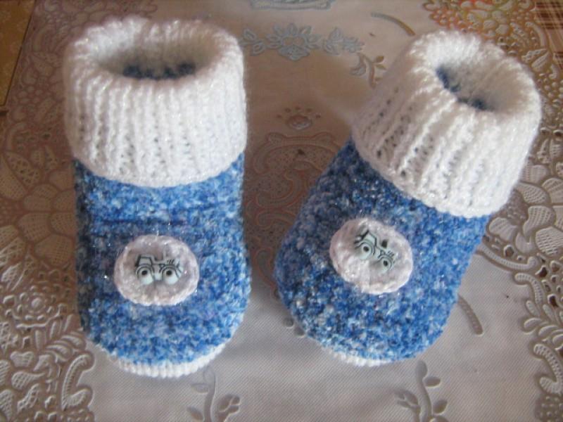 Пинетки - сапожки для малышей Пуфики