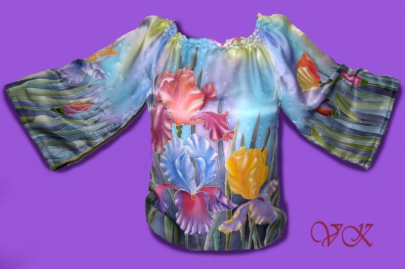 Блузка батик Ирисы