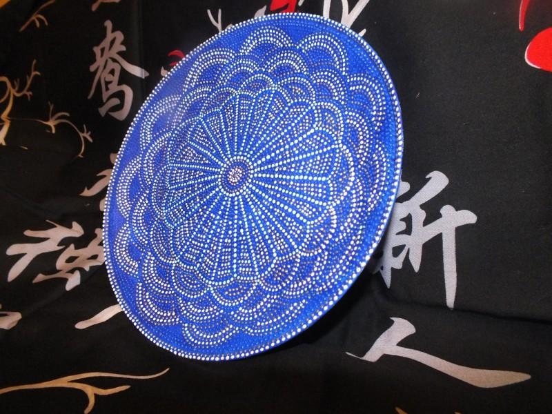 Декоративная тарелка Восточный цветок
