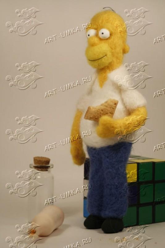 Гомер Симпсон из шерсти