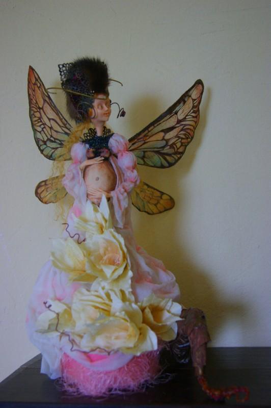 Авторская кукла Ожидание мотылька.