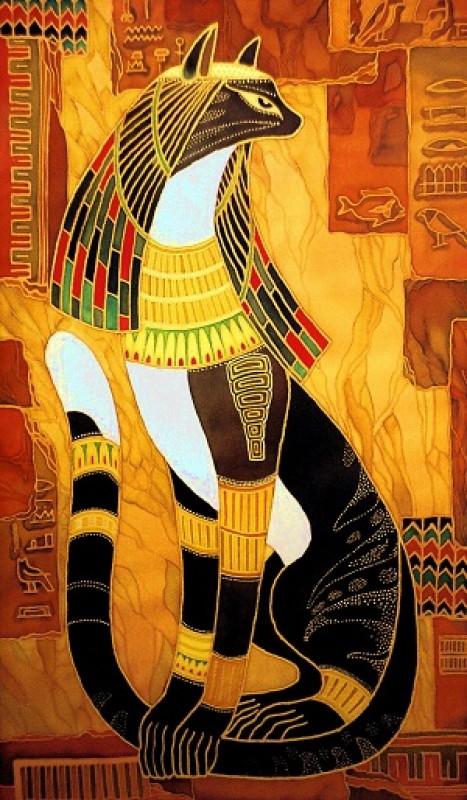 Египетская принцессапанно в технике батик