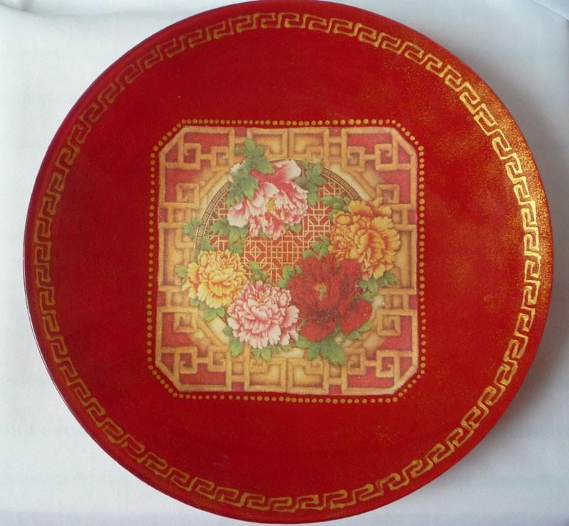 Тарелочка с китайским узором.