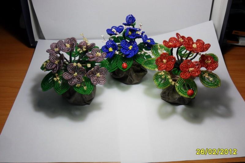 Цветы -букет фиалок