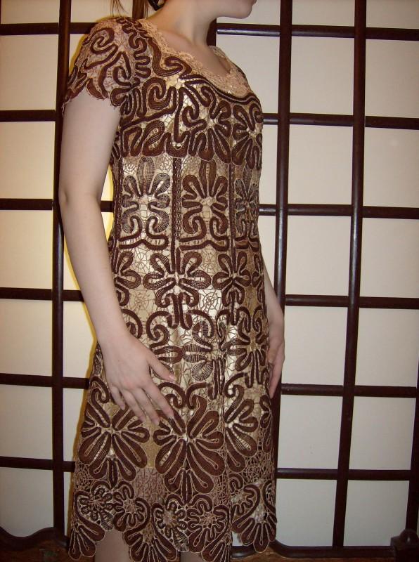 Платье кружевное Шоколад