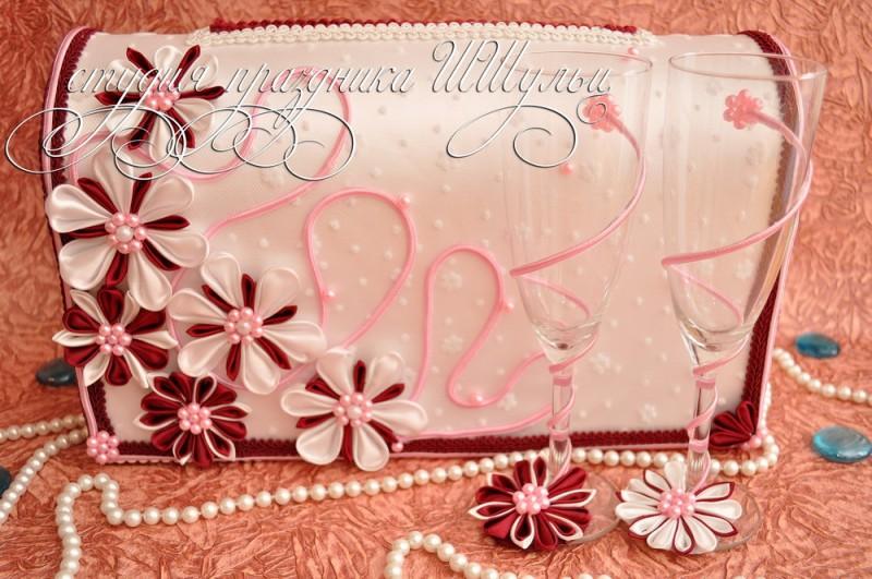 Свадебный набор Цветы Бургундии