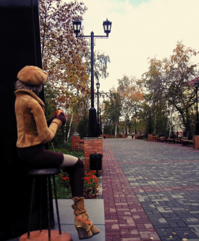 Текстильная кукла Незнакомка