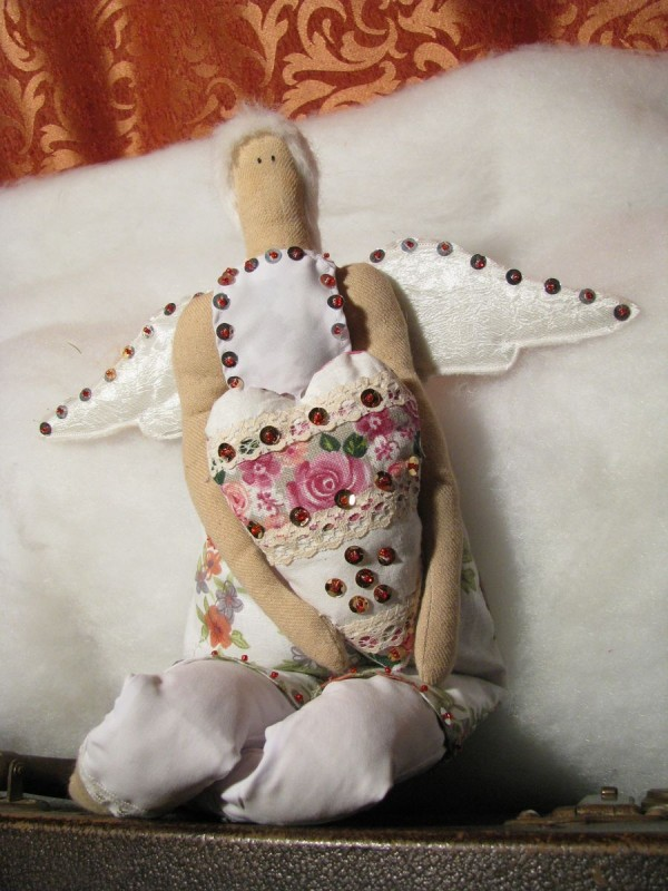 Авторская кукла Ангел сердца тильда