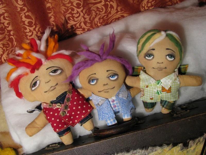 Авторские куклы Братья-ангелы Таро, Сабуро и Йоко