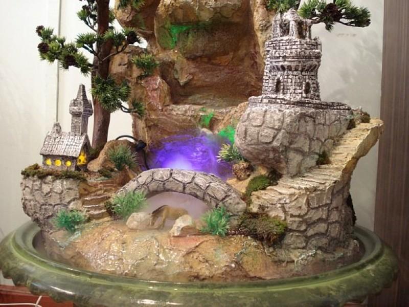 Красивый фонтан дома своими руками 71