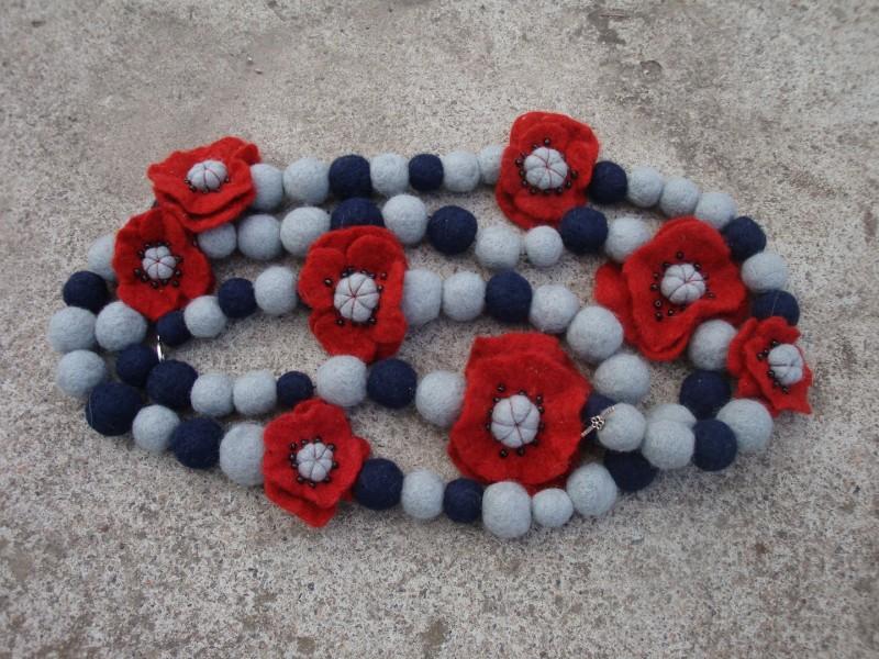 бусы-шарф Цветочные