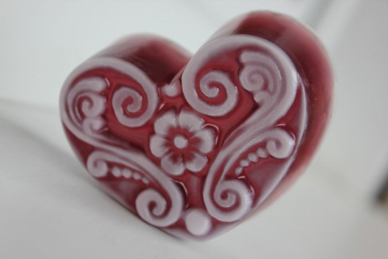 Домашнее мыло Кружевное сердце