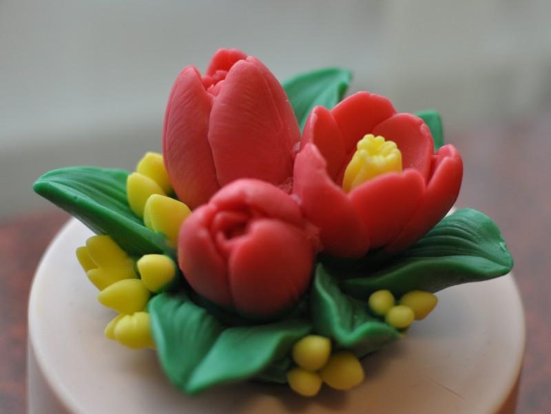 Мыло ручной работы Букет тюльпанов