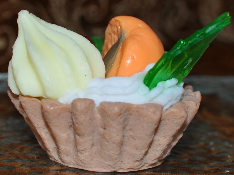 Мыло ручной работы Абрикосовое пирожное