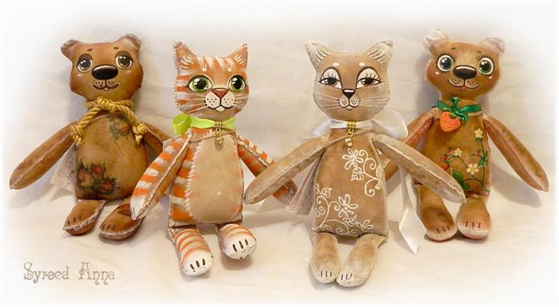 Кофейные кошки и мишки