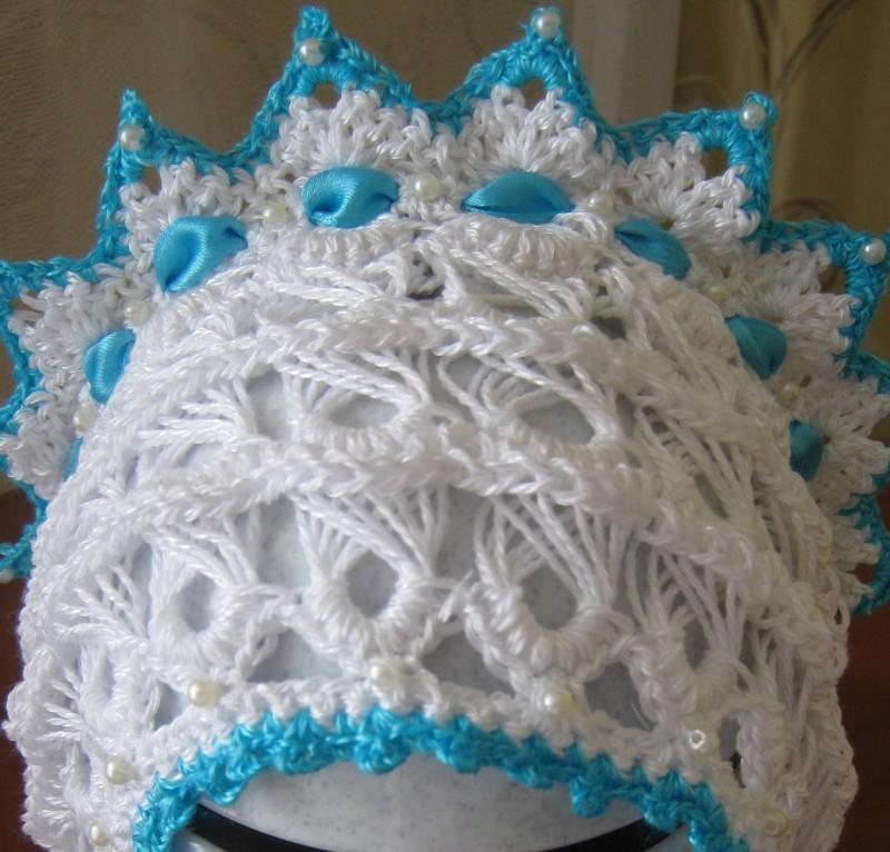 шапочка для новорожденного кроха