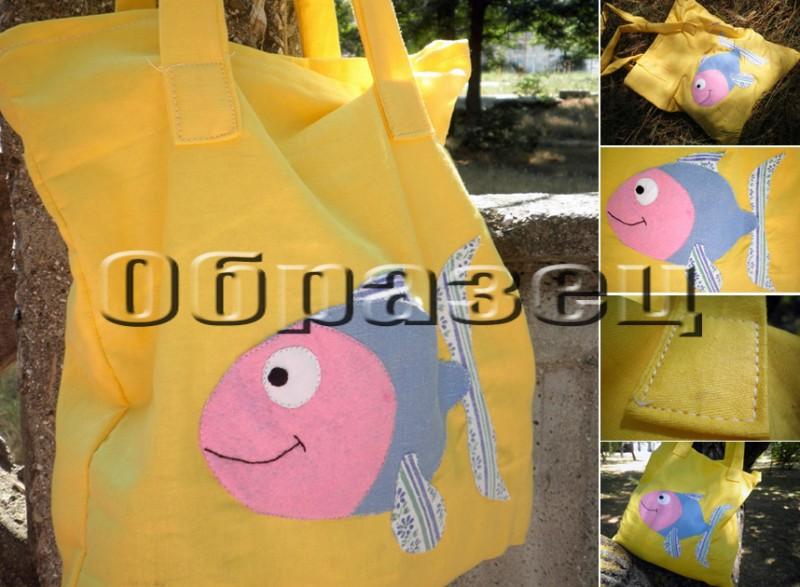 Пляжная сумка с аппликацией