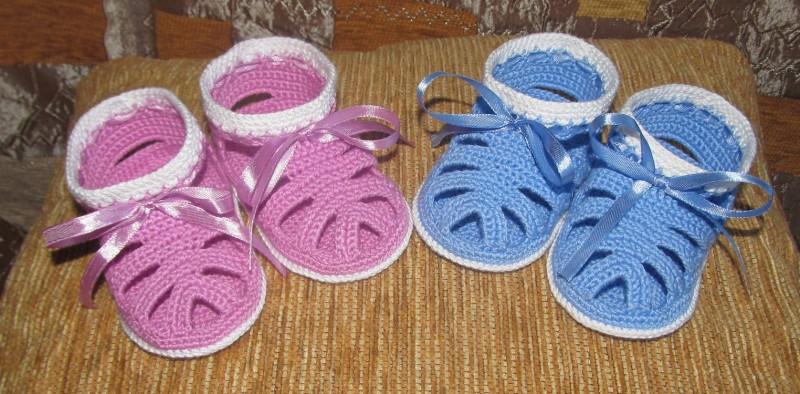 Вязание детских сандаликов