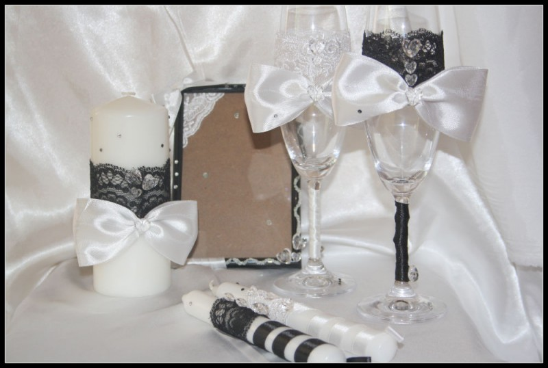 Свадебные бокалы Ажур