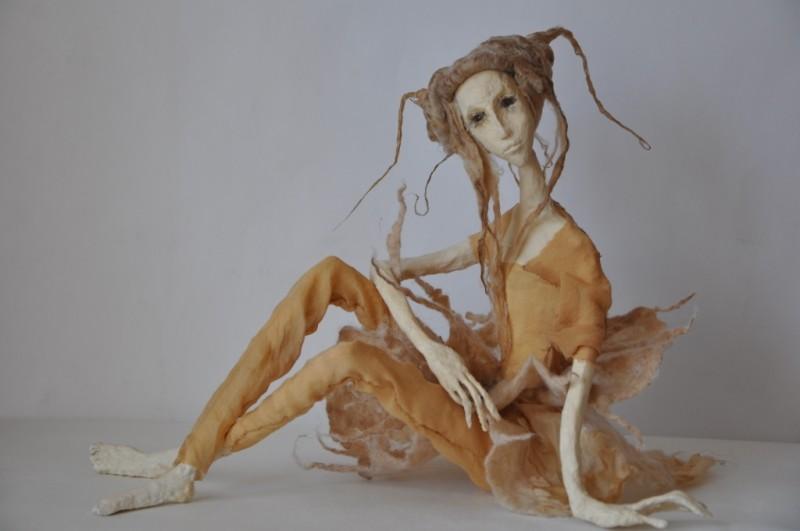 Авторская кукла Вечерний цветок