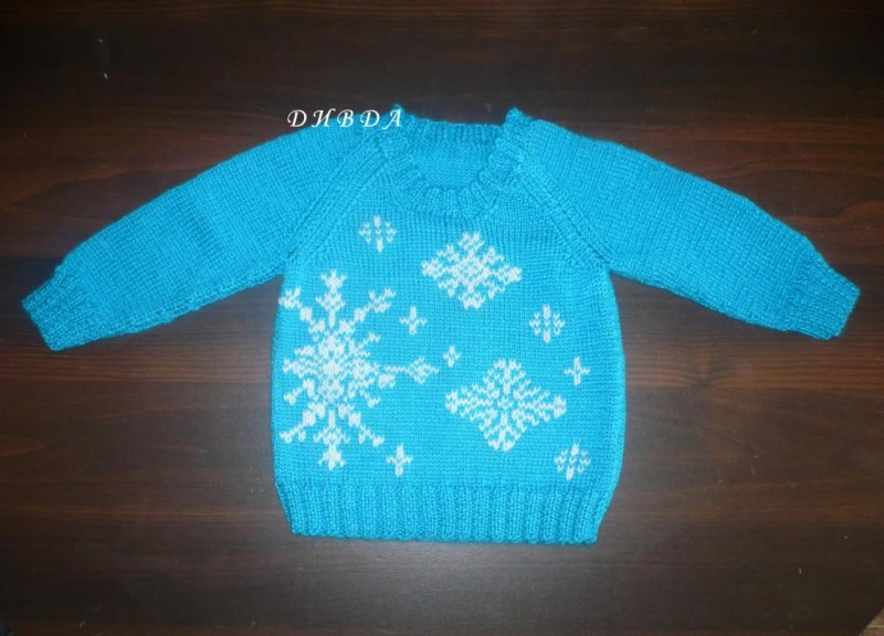 Новогодний свитер на малыша 1,5 - 2х лет.