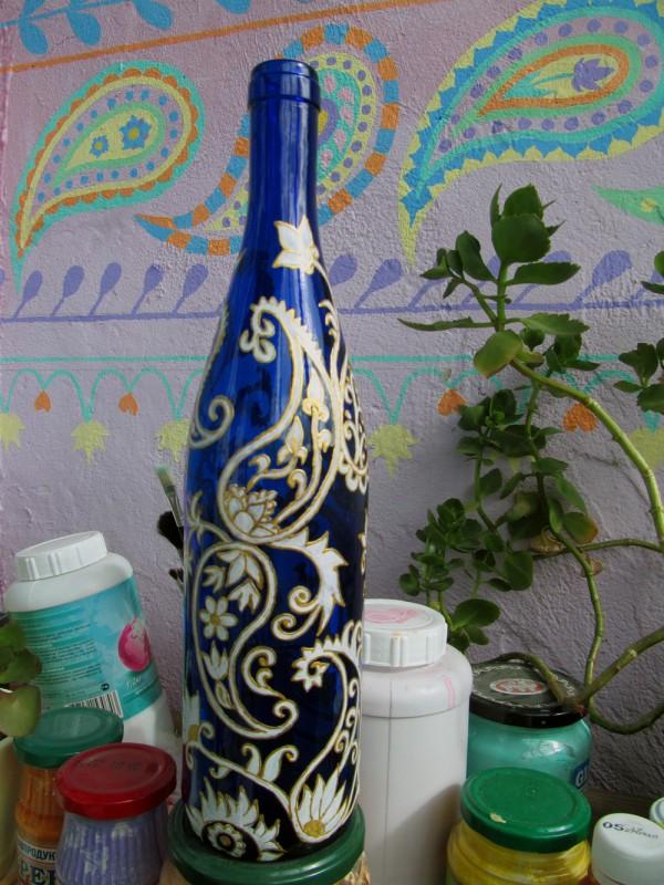 ваза-бутылка огуречная