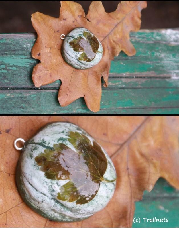 подвеска на шнуре Natural (листья в ассортименте)