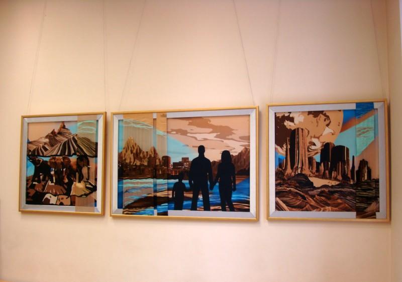 декоративное настенное панно в интерьер, триптих Мир вокруг нас