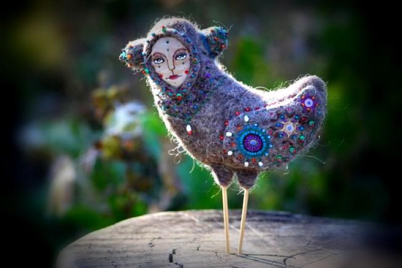 авторская игрушка птица Гамаюн