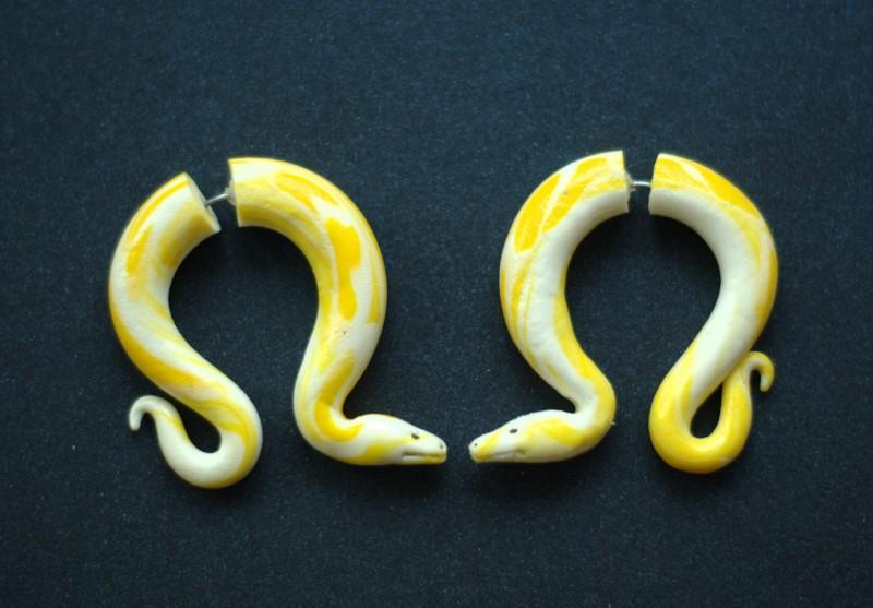 Серьги-фейки Змеи