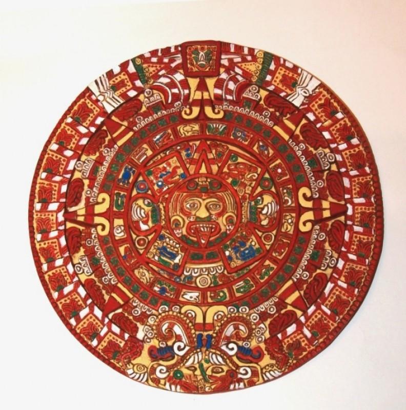 Барельеф Камень Солнца - ацтекский календарь
