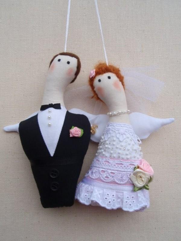 Куклы-ангелочки Жених и Невеста