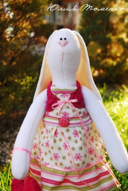 Тильда зайцы из флиса