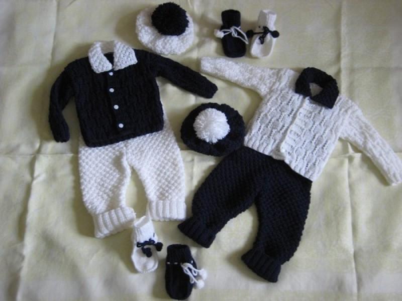 Детские костюмчики для близнецов Домино