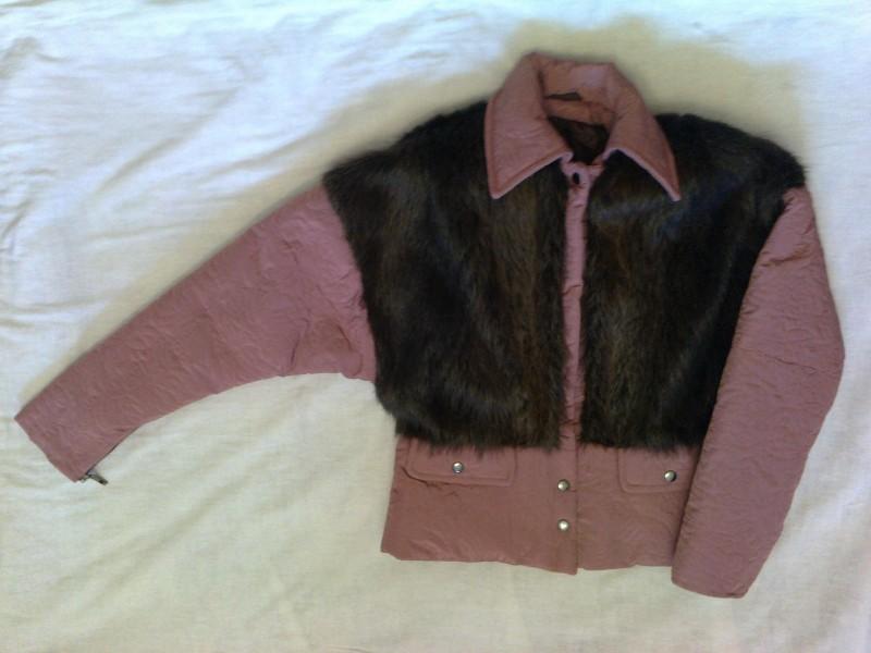 Женская зимняя куртка Розовый фламинго.