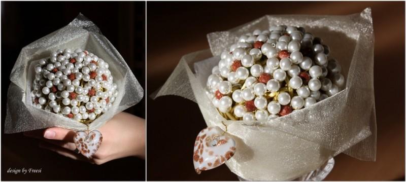 Букет из бусин Свадебный