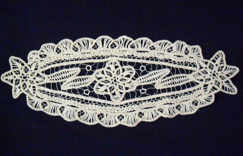 Салфетка Romanian point lace