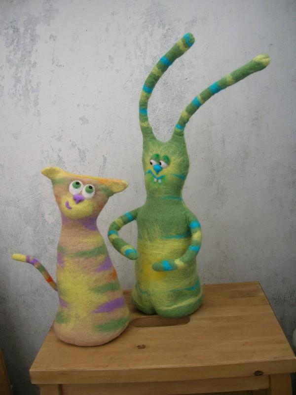 кошка Голда и заяц Хитрован