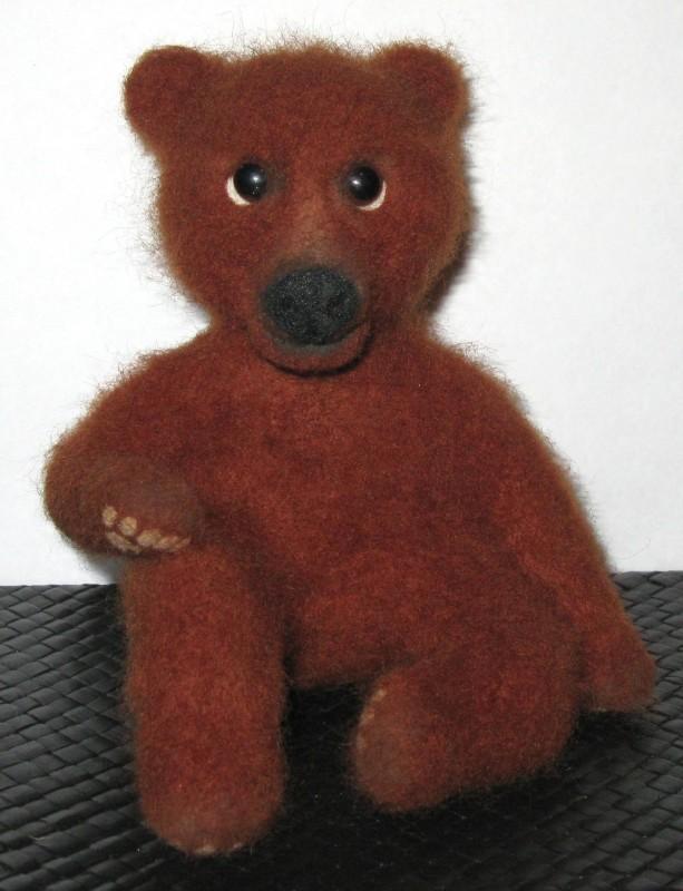 Медвежонок  Потап. Валяная авторская игрушка.