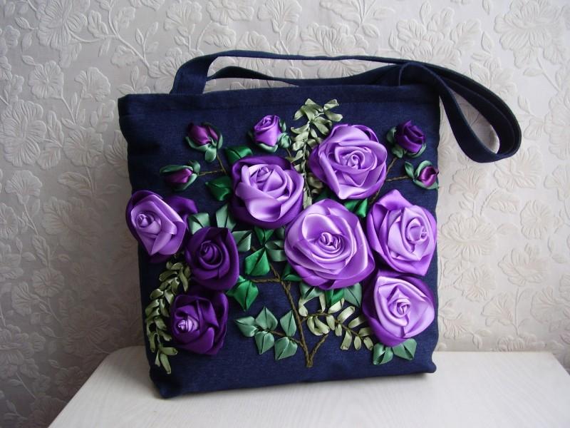 СумкаСиреневые розы
