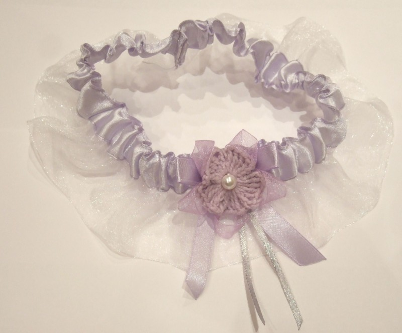 Подвязка свадебная - Lilac