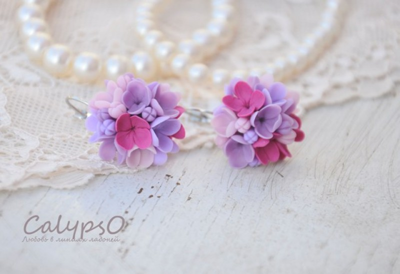 Серьги  Wedding Lilas