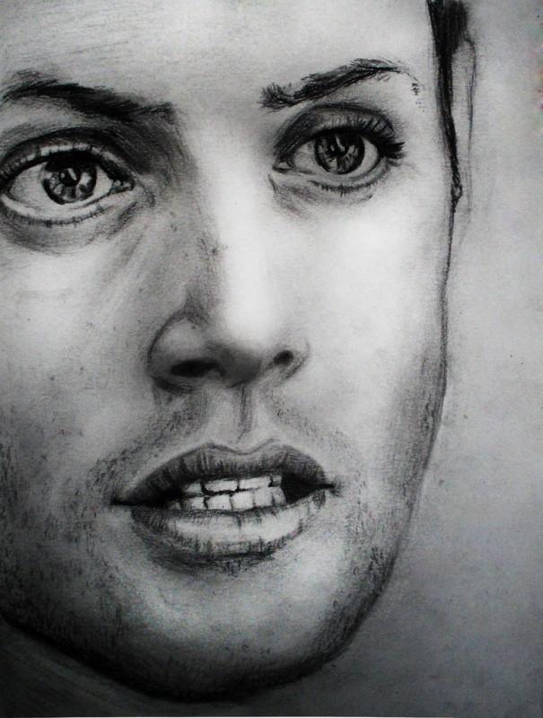 Портрет по фотографии Графика - карандаш,уголь