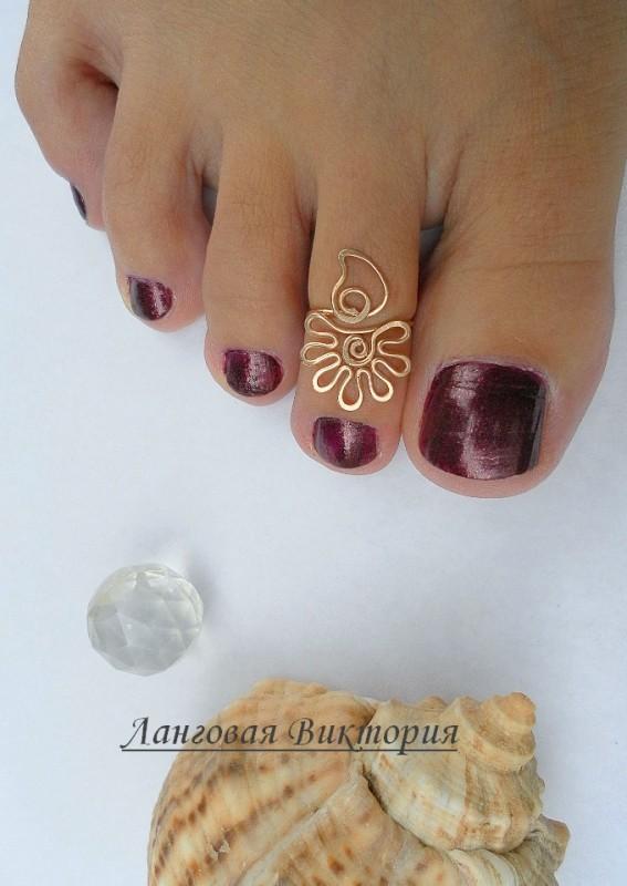 Кольцо на палец ноги Цветочек.