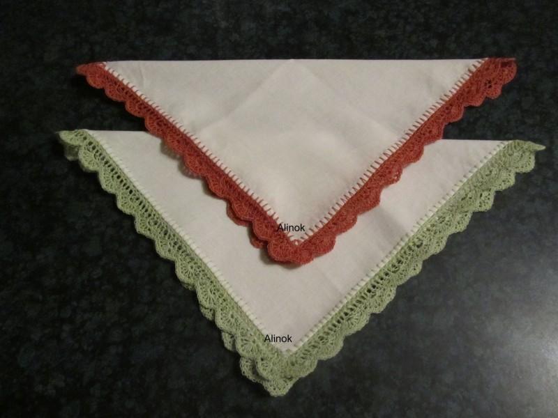 Носовые платочки с кружевной каймой